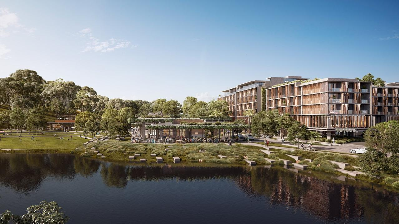 Artist's impressions of Sekisui House's hotel and residential development at Yaroomba.