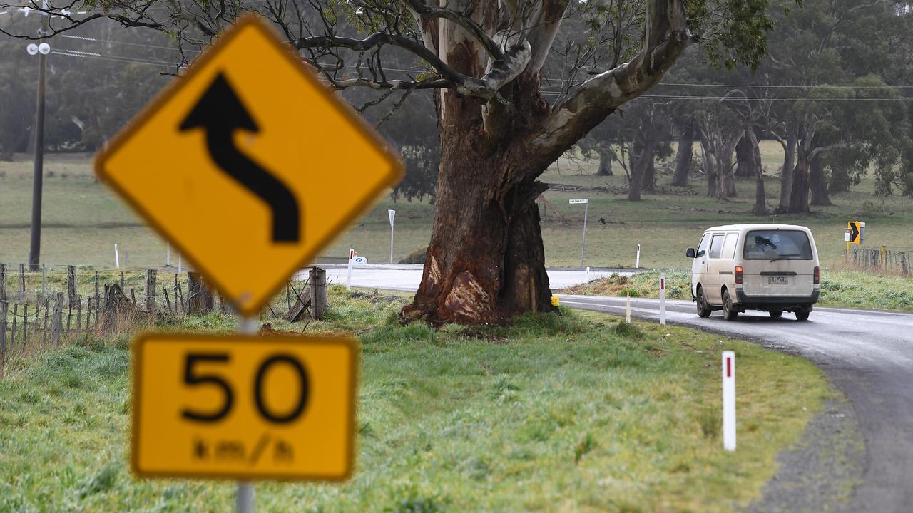 The scene of the fatal crash near Ballarat.