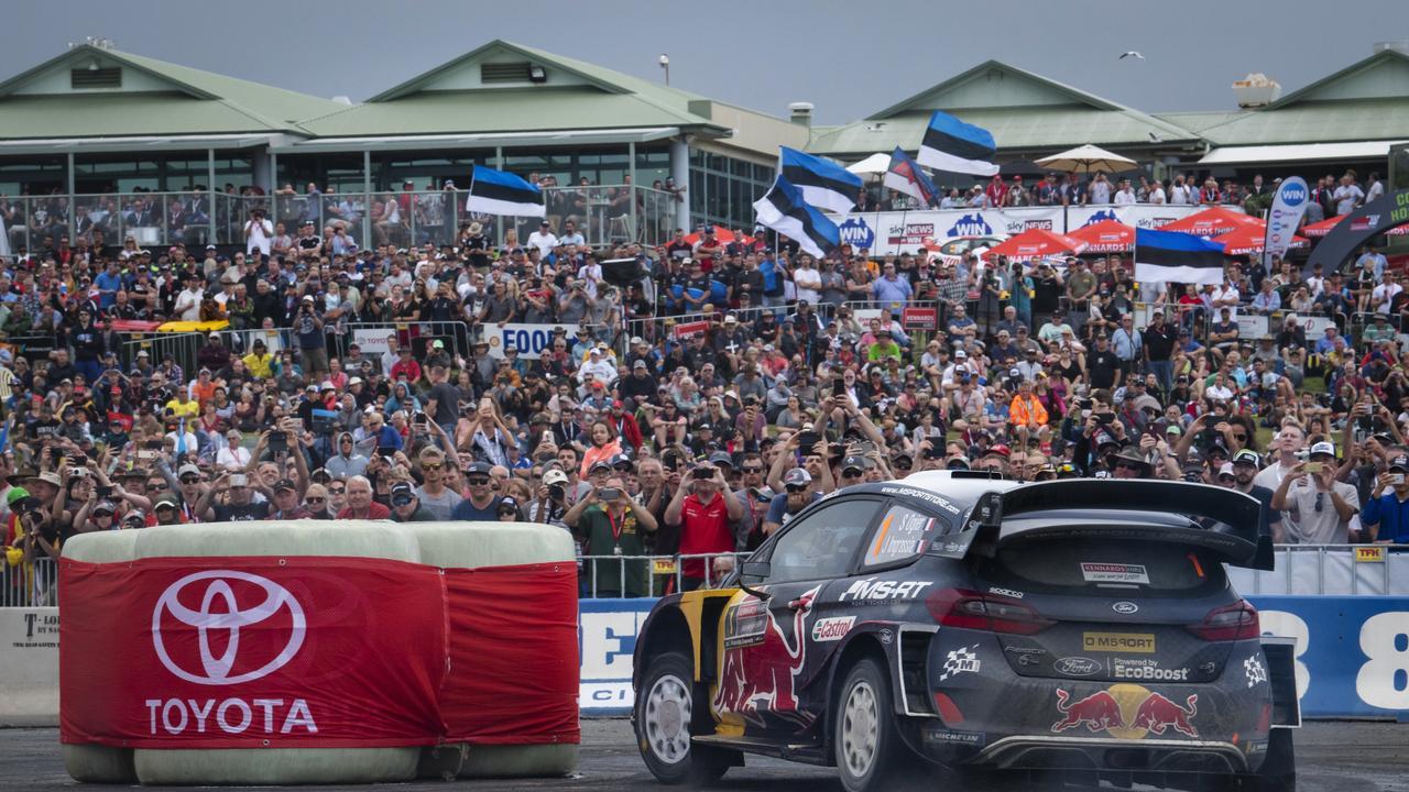 Sebastien Ogier (FRA) performs during FIA World Rally Championship 2018 in Coffs Harbour, Australia on November 16, 2018
