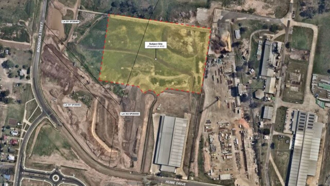 The site of the proposed development in the Citiswich Business Park in Bundamba.