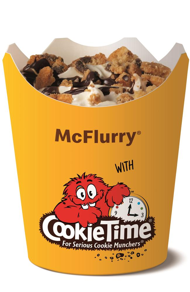 McDonald's Australia has collaborated with Cooke Time in NZ, to bring you the ultimate, new McFlurry flavour. Picture: Supplied