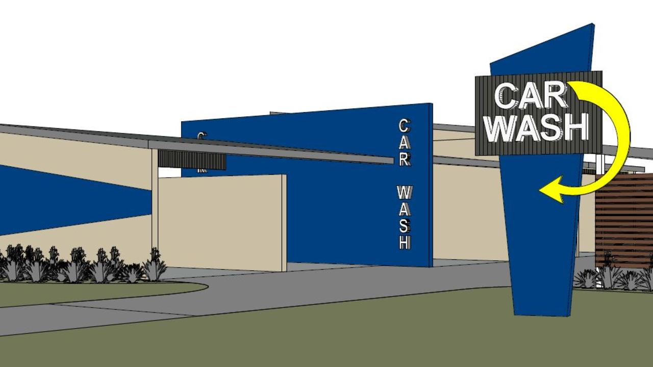 Proposed plans for a car wash with vacuum and dog wash facilities off Yeppoon Rd near the hospital.