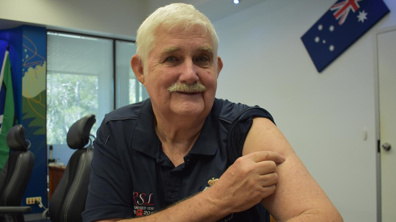 Mackay's Col Benson is ready to roll up his sleeve for the COVID-19 jab. Picture: Melanie Whiting