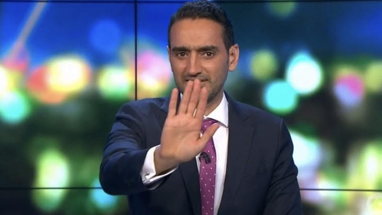 Aly was cut off during his vaccine rant. Picture: Channel 10