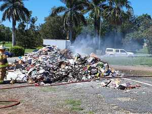 'It's happened again': Mackay rubbish truck catches on fire