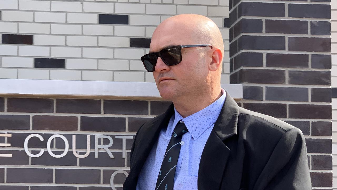 Senior Constable Michial Luke Greenhalgh, 39, has pleaded not guilty to one charge of common assault over the 2018 detention of a 16-year-old boy in Byron Bay. He is defending the allegation before a hearing. Picture: Liana Boss