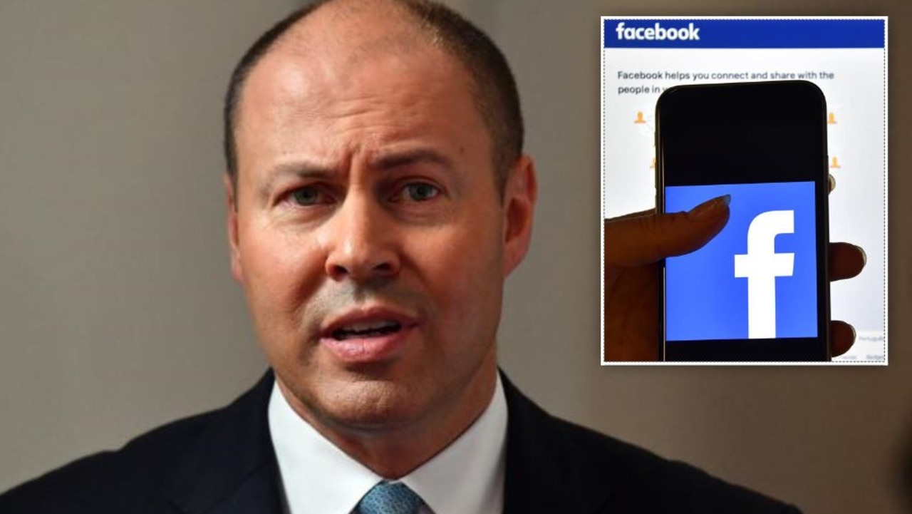 josh frydenberg has take the fight to facebook.
