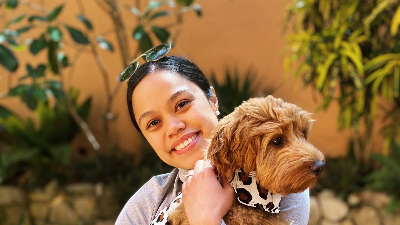 "Sports and Spinal Physiotherapy employee Cielo Kelley was happy to hear about the business's new ""pawternity"" leave."