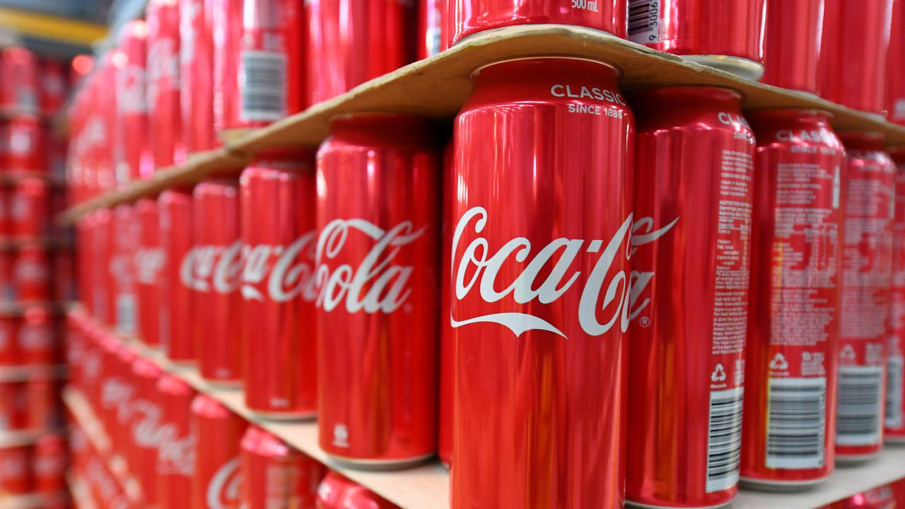 Coca-Cola Amatil has announced its sustainability objectives to 2040. Picture: James Ross/AAP