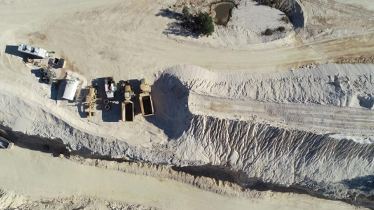 An aerial view of Dowes Quarry.