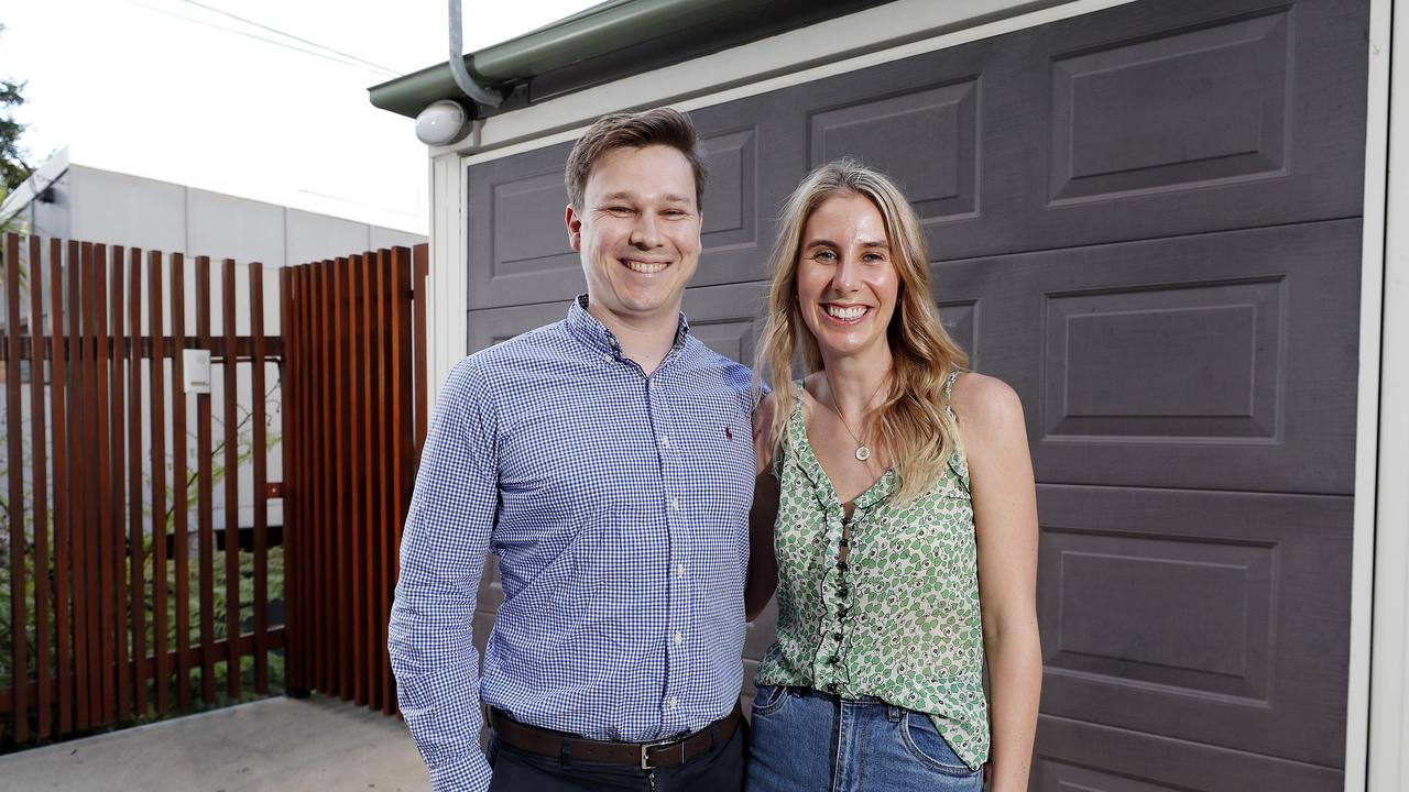 Alex Tynan and Victoria Harrison are resorting to some 'desperate' measures to win their dream home. Picture: Josh Woning