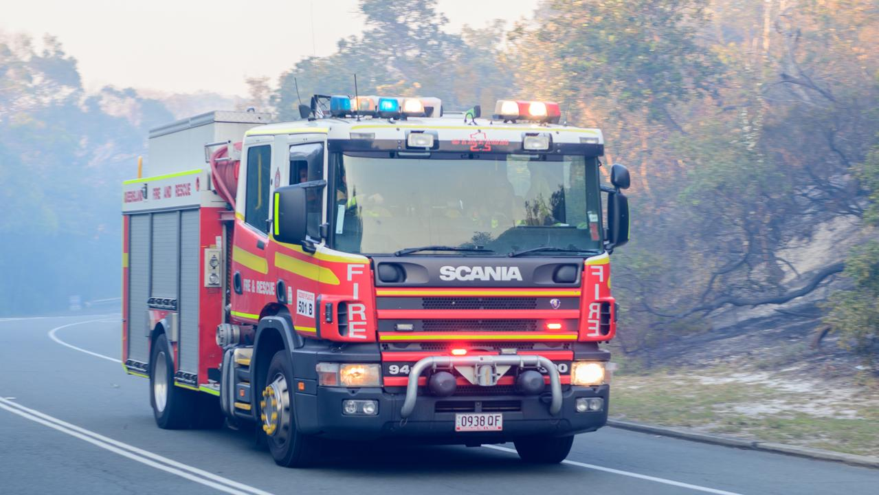 Seven fire crews were on the scene of two grass fires burning in Gympie yesteday. Photo: File