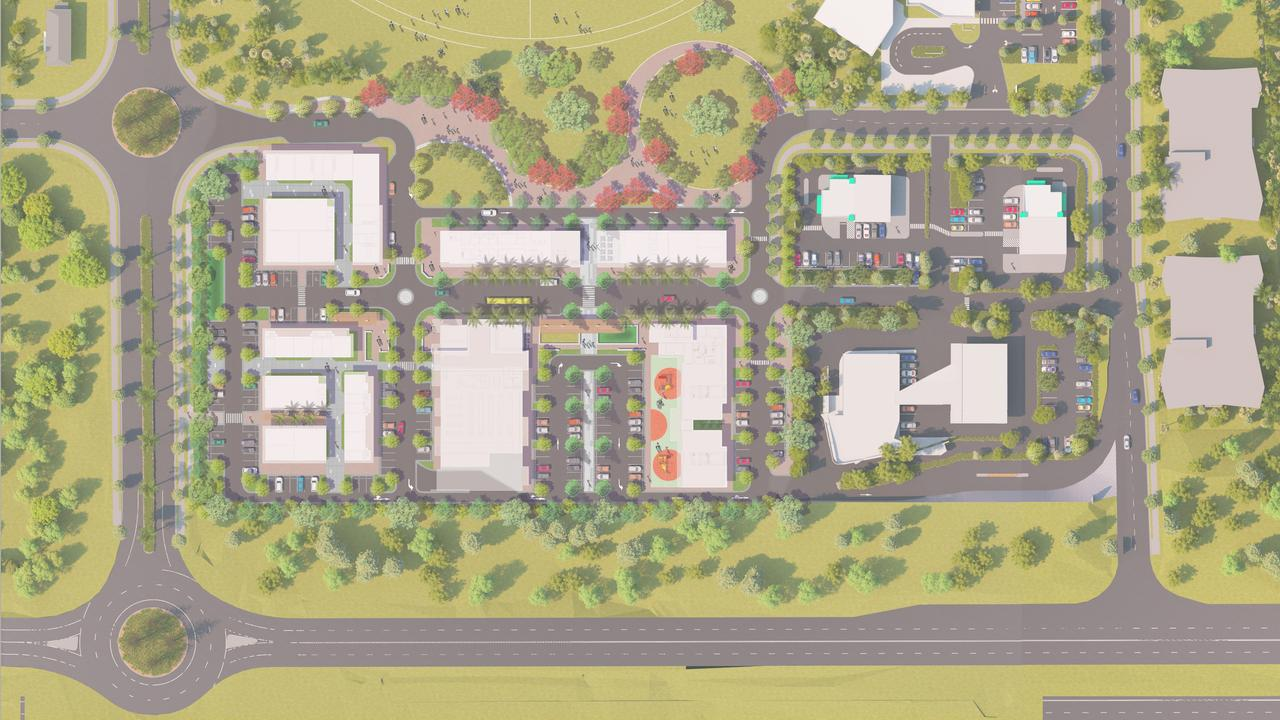 Plans for the commercial centre for the Whitsunday Paradise estate in Bowen. Picture: Supplied