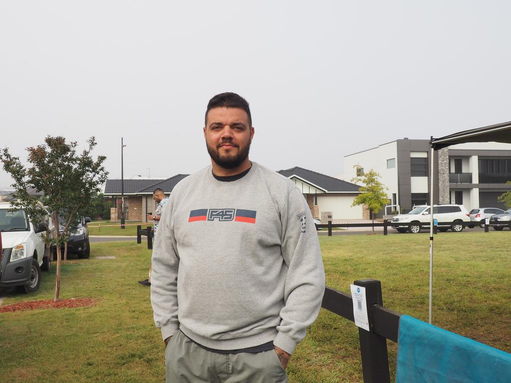 Buyer Tim Caruana camped out in his caravan since Thursday.