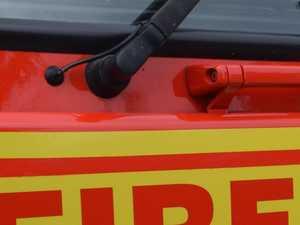 Fire crews battling blaze burning near Bay