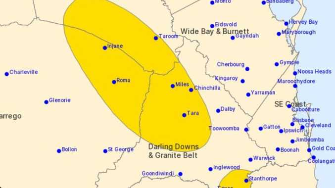 WARNING: Severe storms set to hit Western Downs