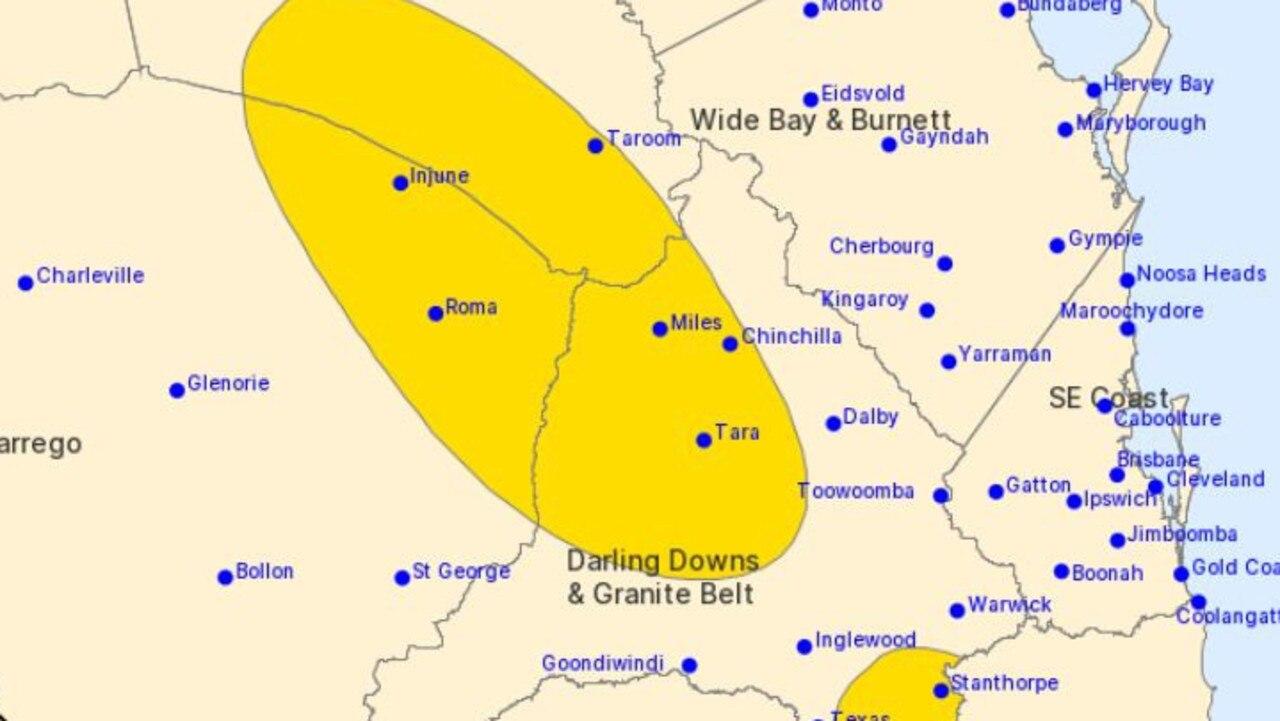 BOM: Warning area for Wednesday, Feb 24. Pic: Copyright Commonwealth of Australia 2021, Bureau of Meteorology