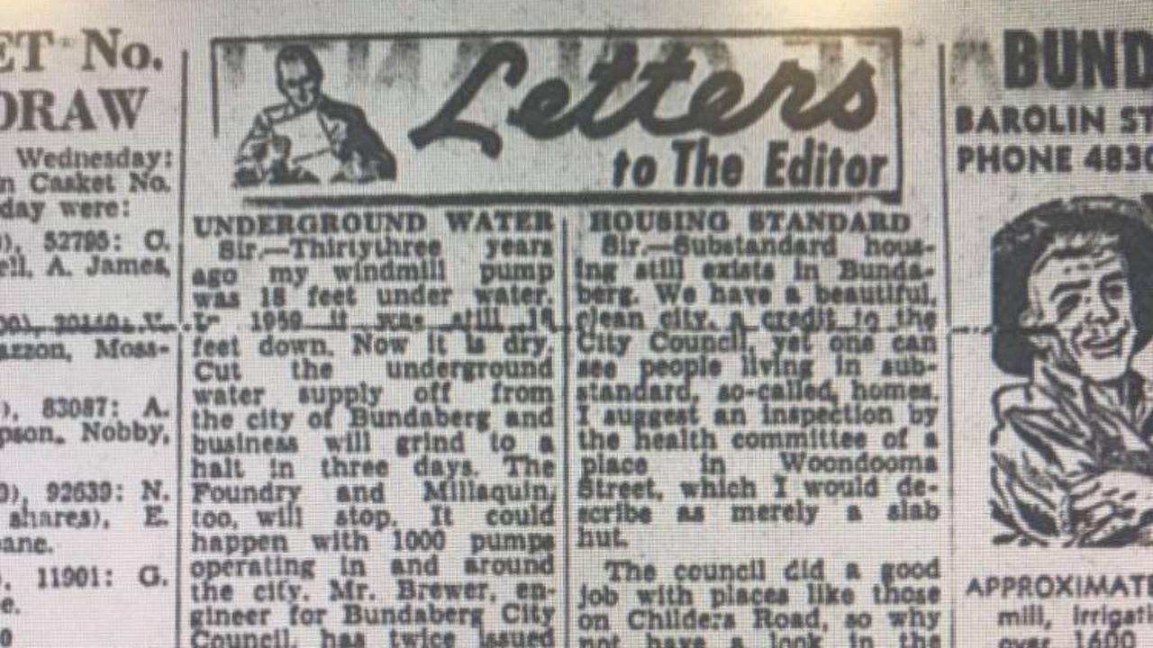 A snippet from a 1965 edition of the NewsMail, showing the letters to the editor section.