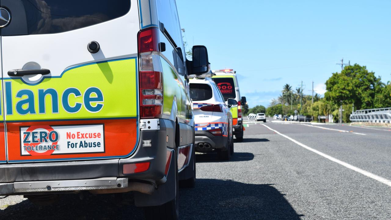 Emergency crews attend a collision at Amberley. Pic: file photo