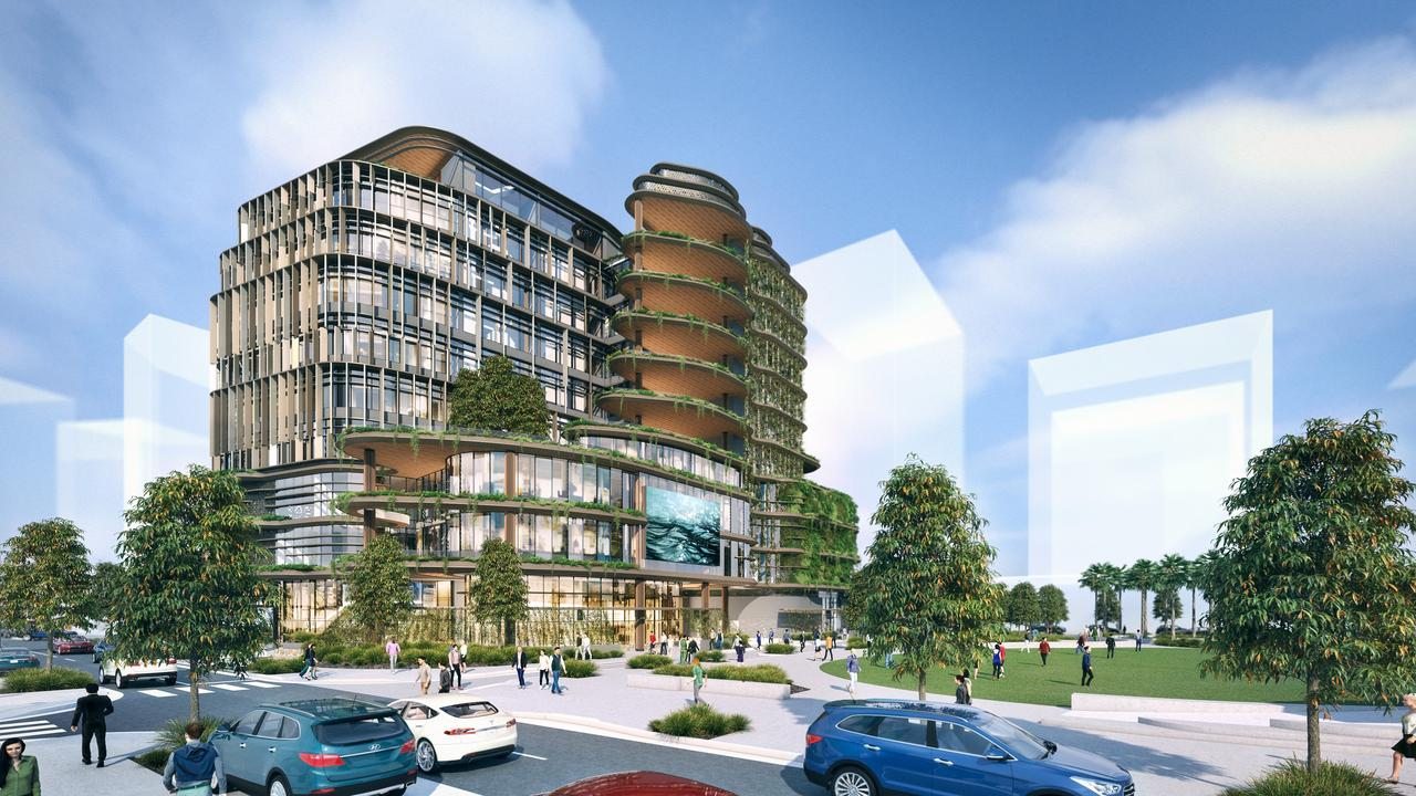The new Sunshine Coast City Hall is already under construction at the new Maroochydore city centre.
