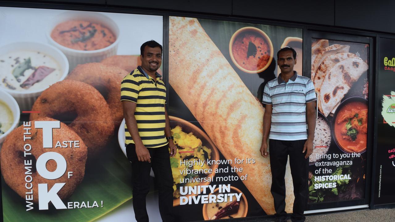 Jibin Jacob and Joji Joseph outside Taste of Kerala.