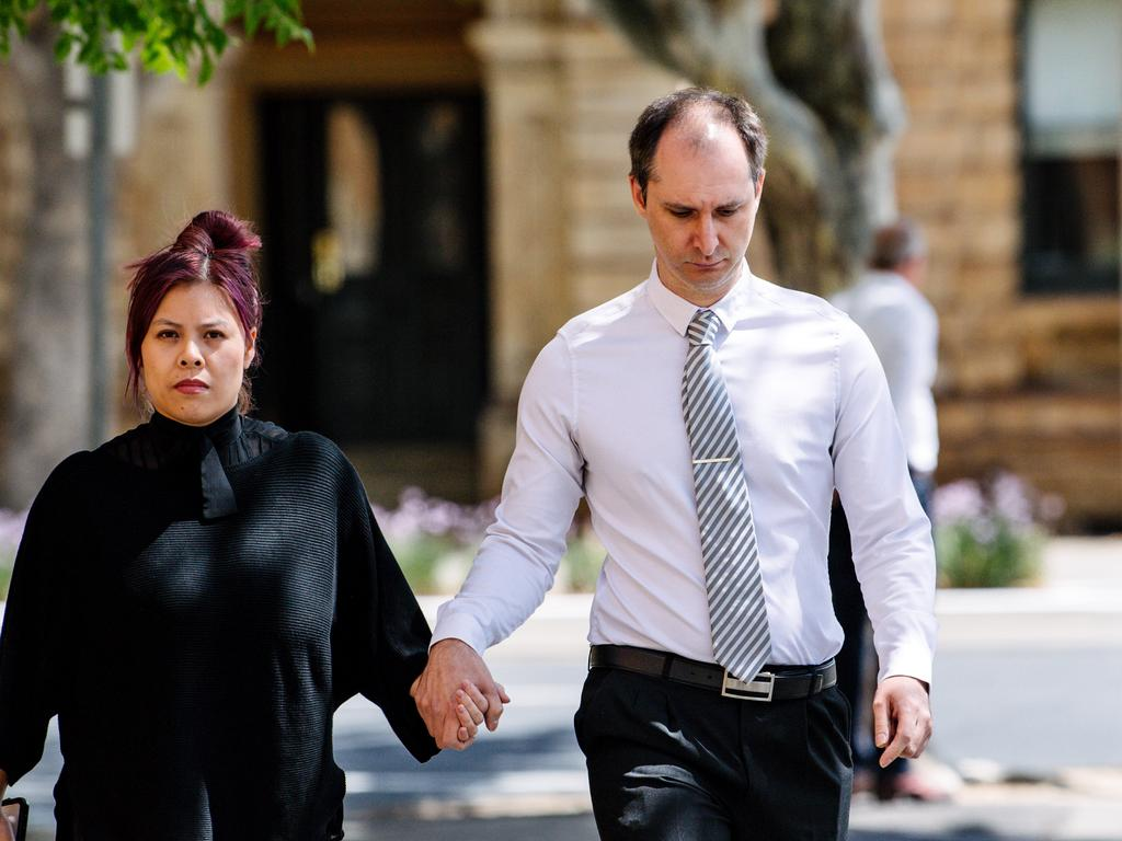 Alexander Campbell (right) did not comment as he left court on Wednesday afternoon. Picture: NCA NewsWire / Morgan Sette