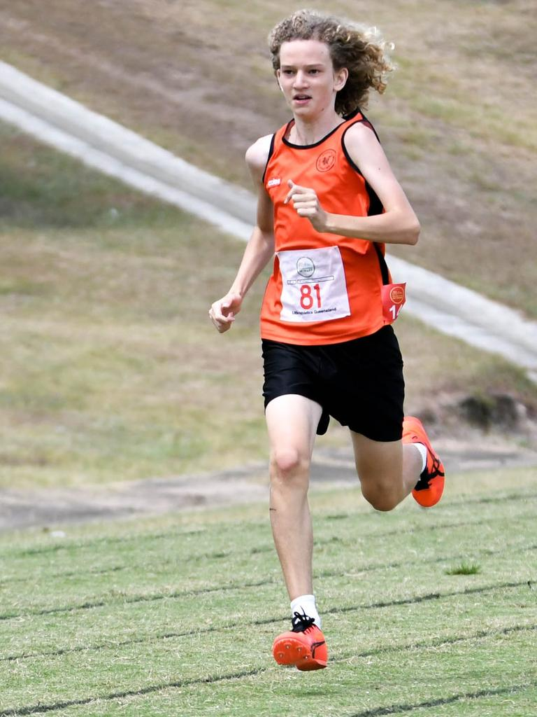 An Ipswich Little Athletics Centre runner at the recent day one championships at Bill Paterson Oval. Picture: Gary Reid