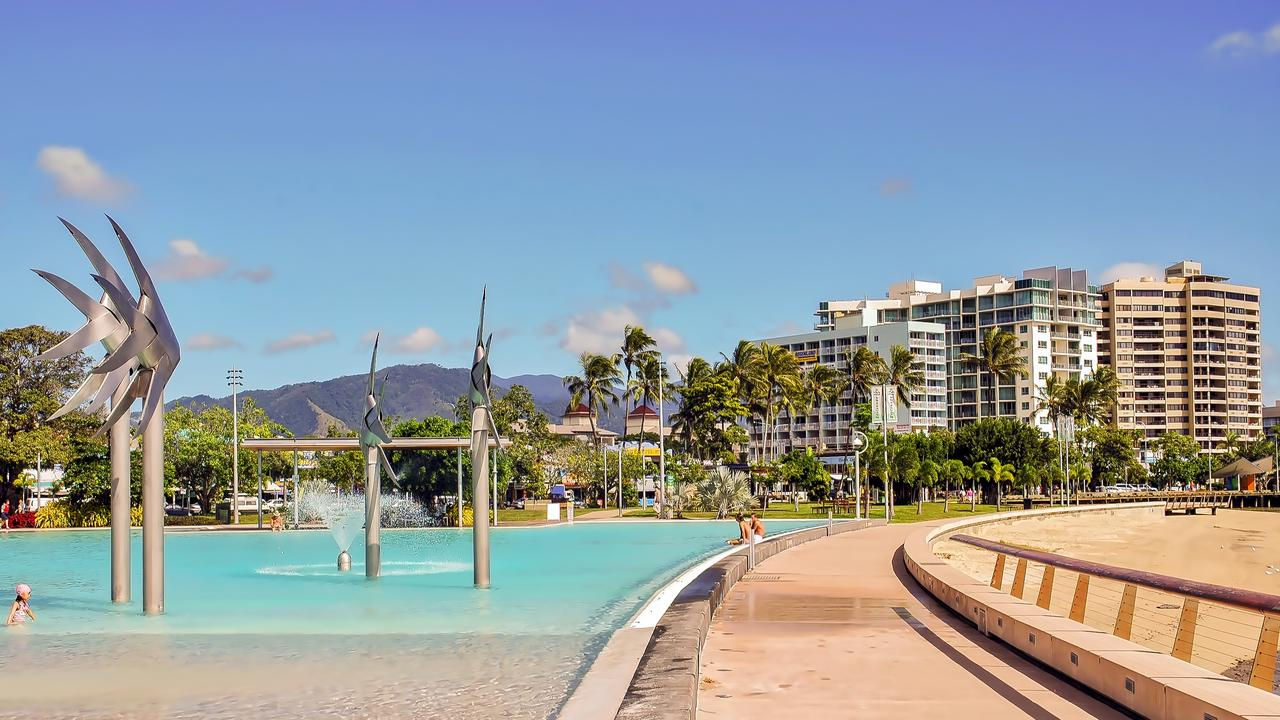 Cairns Esplanade Lagoon in Cairns, Queensland, Australia.