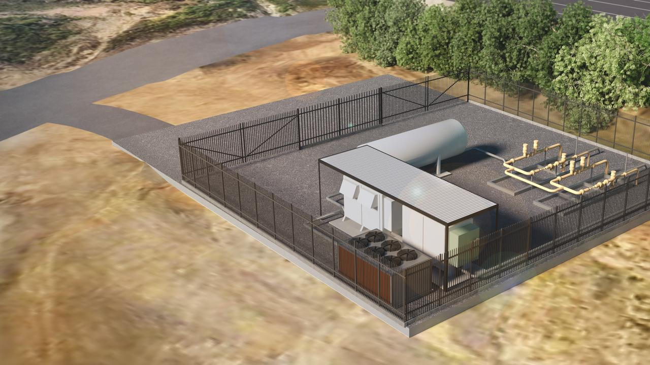 An artists impression of the hydrogen plant at Gladstone.