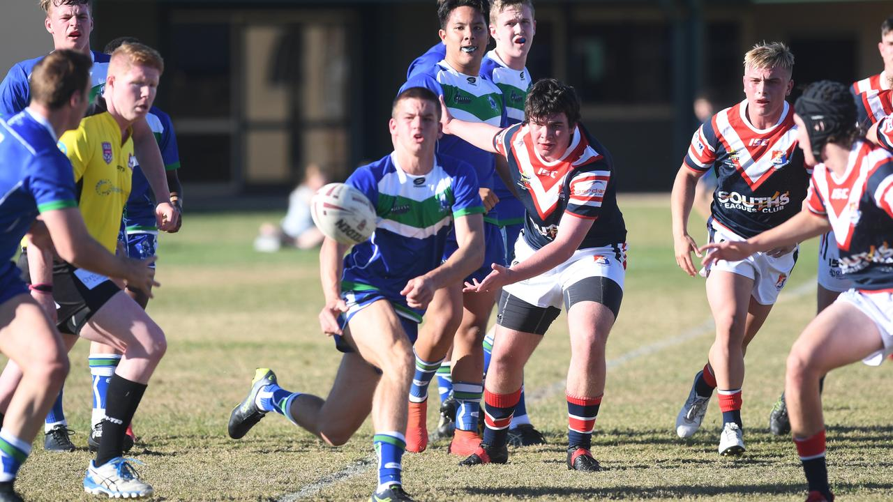 Hooker Jai Hansen, pictured playing for The Cathedral College in the Aaron Payne Cup, was a standout for the CQ Capras under-18s in their opening trial game last weekend.