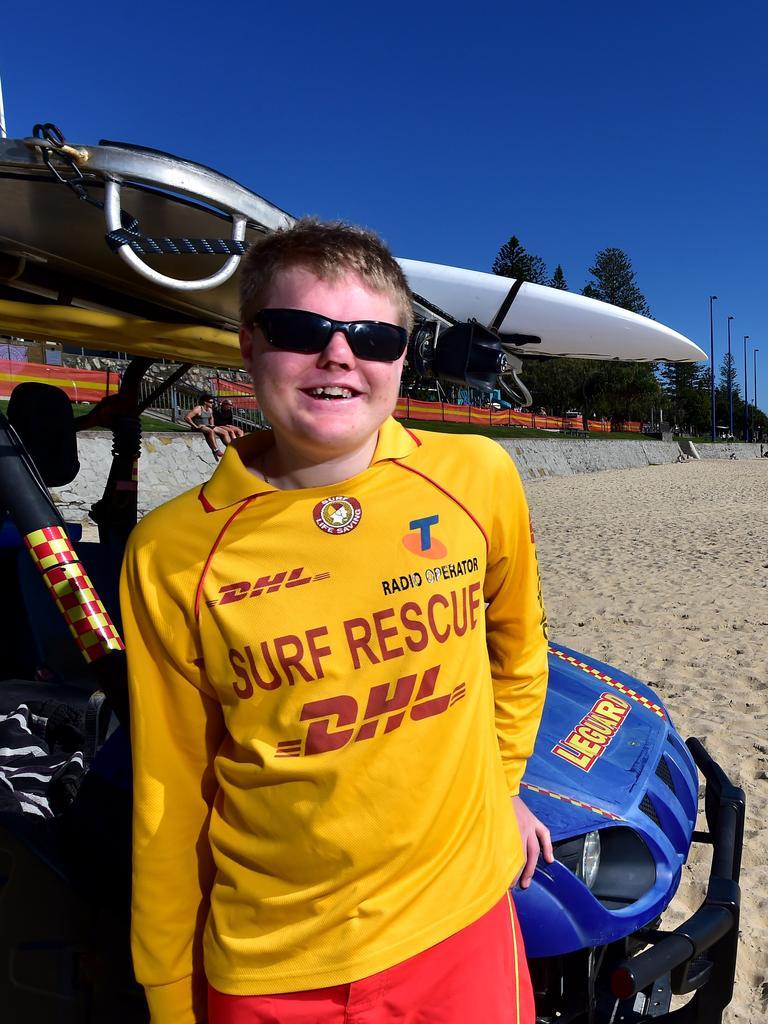 Mooloolaba Surf Lifesaving Club's Blake Ison on patrol.