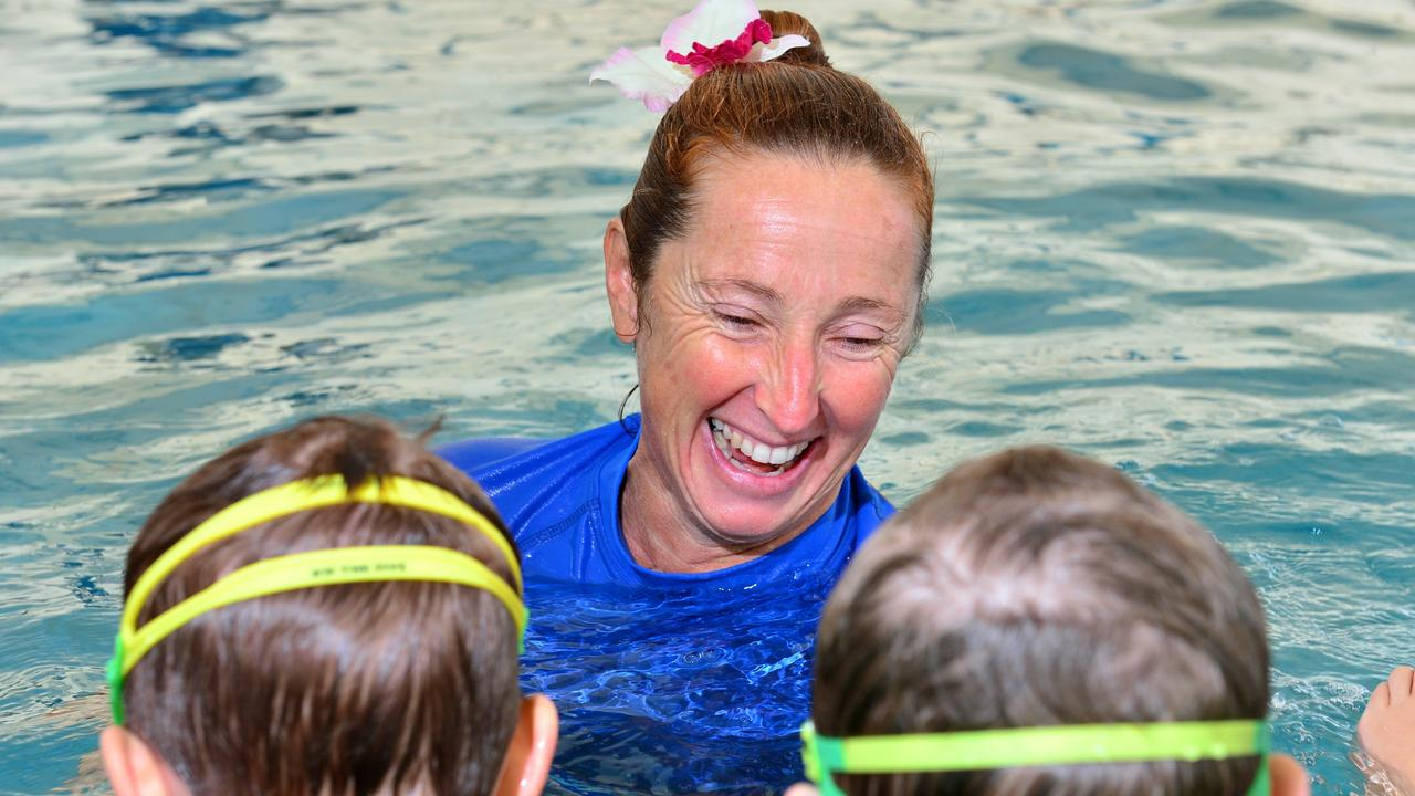 Davina Wirth in her element teaching children at Cotton Tree swimming pool back in 2015.