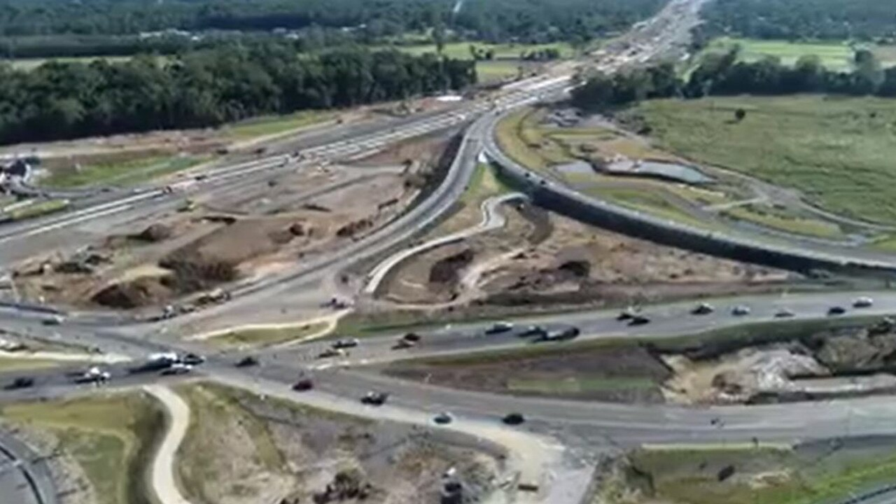 Department of Transport and Main Roads has released a video of the diverging diamond interchange after the recent opening of new lanes and access points.