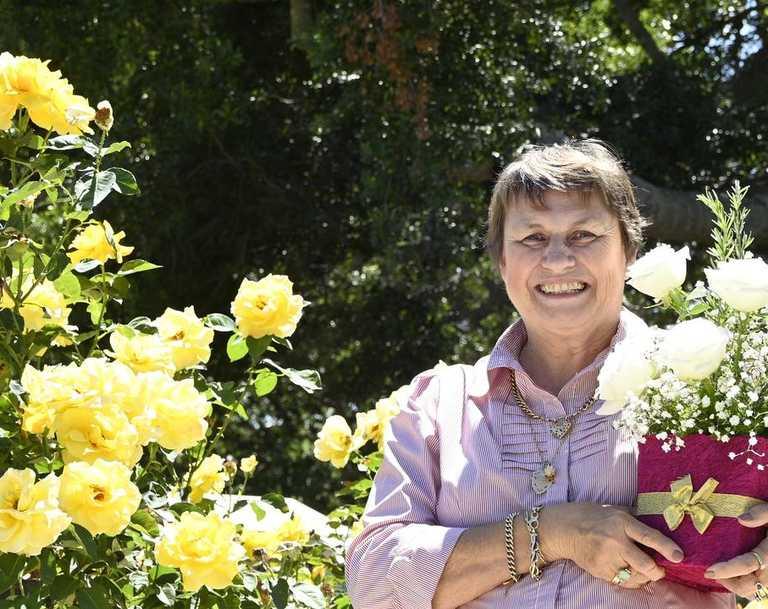 President of Queensland State Rose Garden in Newtown Park Sandy Martin.