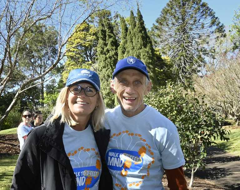 Karen and Dan O'Neill at the 2019 Walk to D-Feat MND at Queens Park.