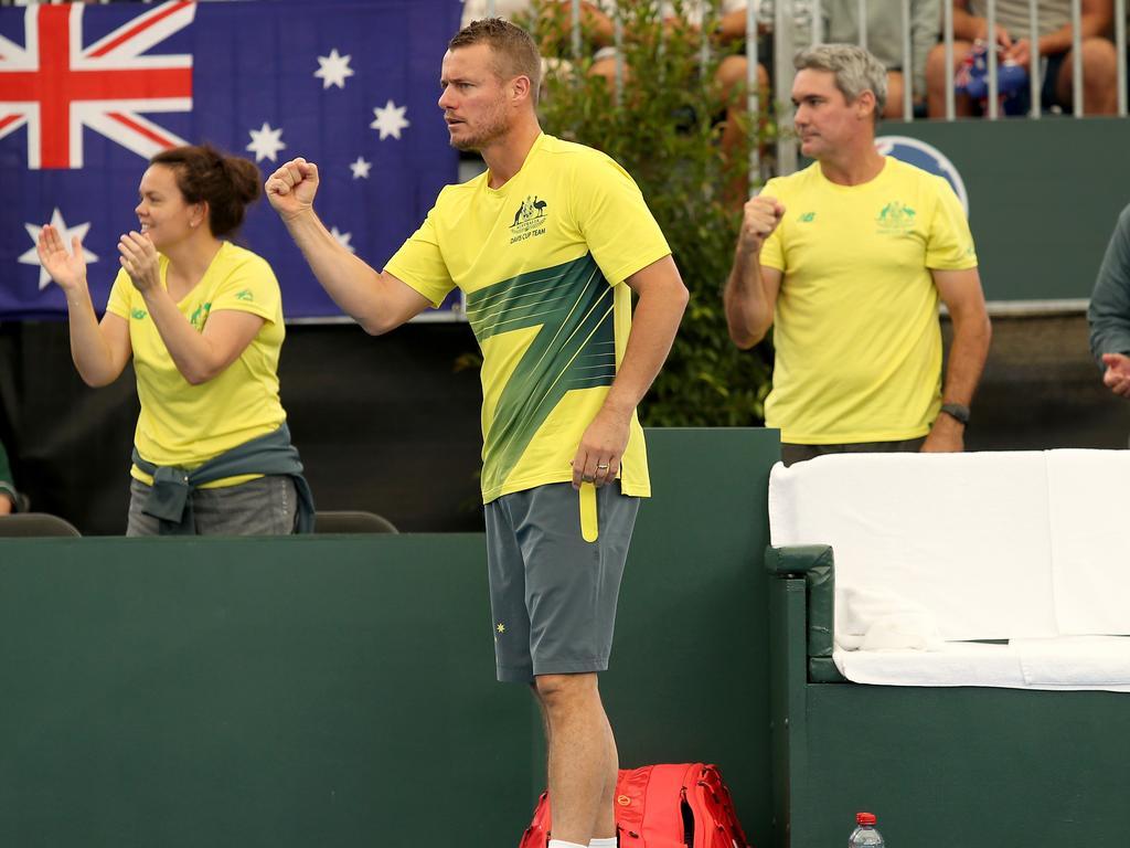 Australian coach Hewitt loves the Davis Cup concept. Picture: AAP Image/James Elsby