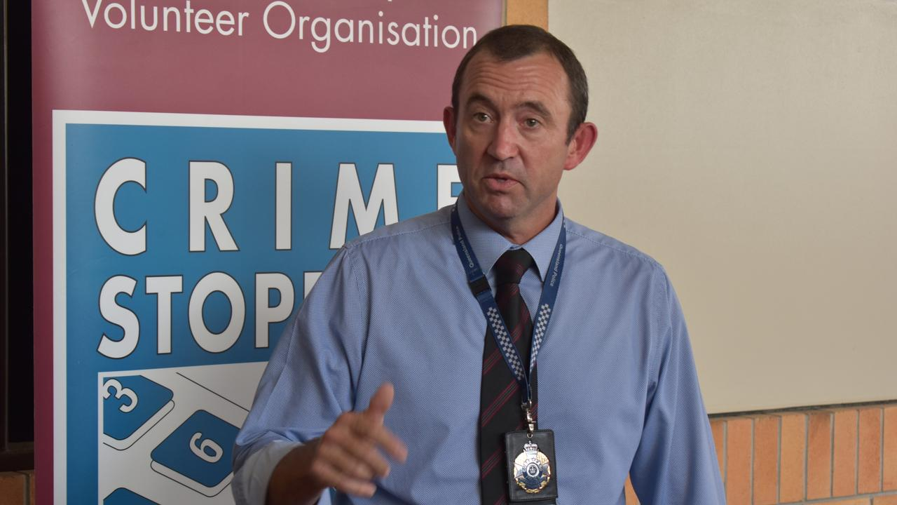Detective Senior Sergeant David Harbison from Maryborough Criminal Investigation Branch. Photo: Stuart Fast