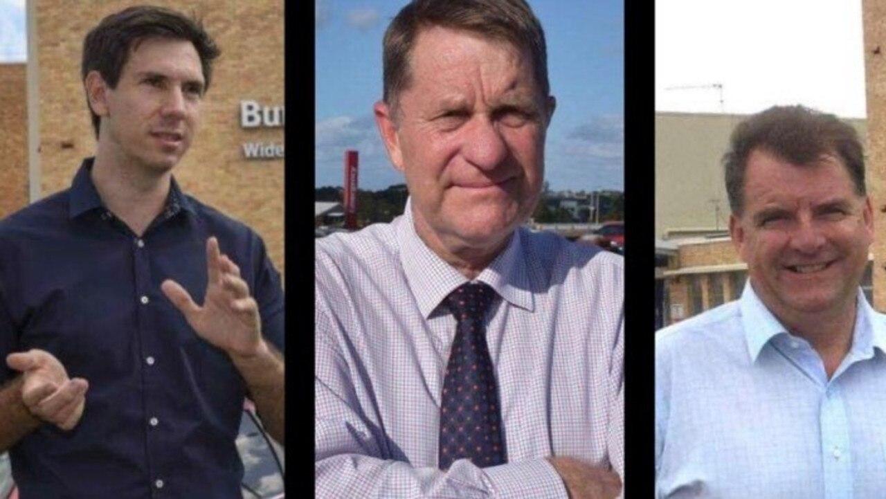 Bundaberg MP Tom Smith, Fraser Coast councillor David Lee and Burnett MP Stephen Bennett.