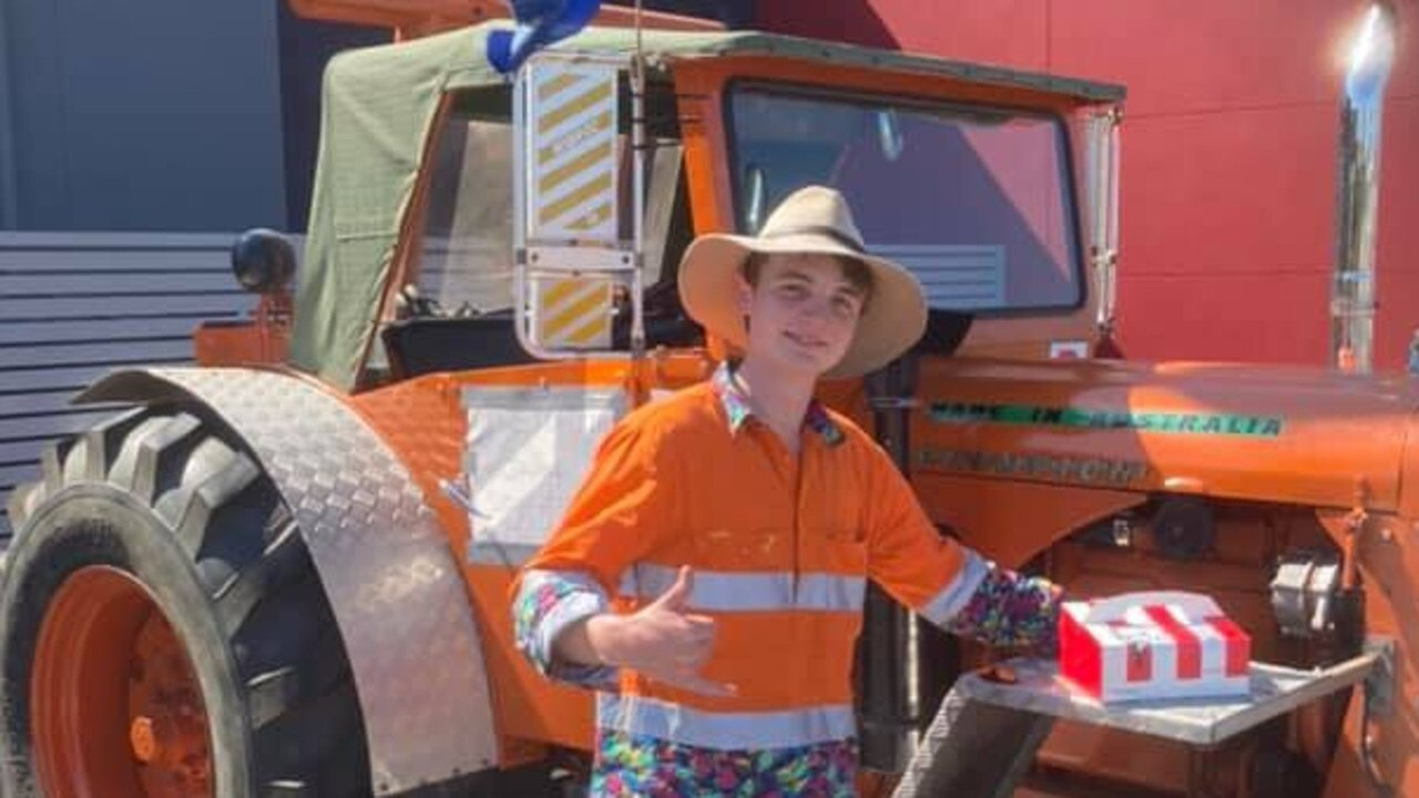 Sam Hughes from Maleny is planning to spend the next year travelling Australia on his tractor.