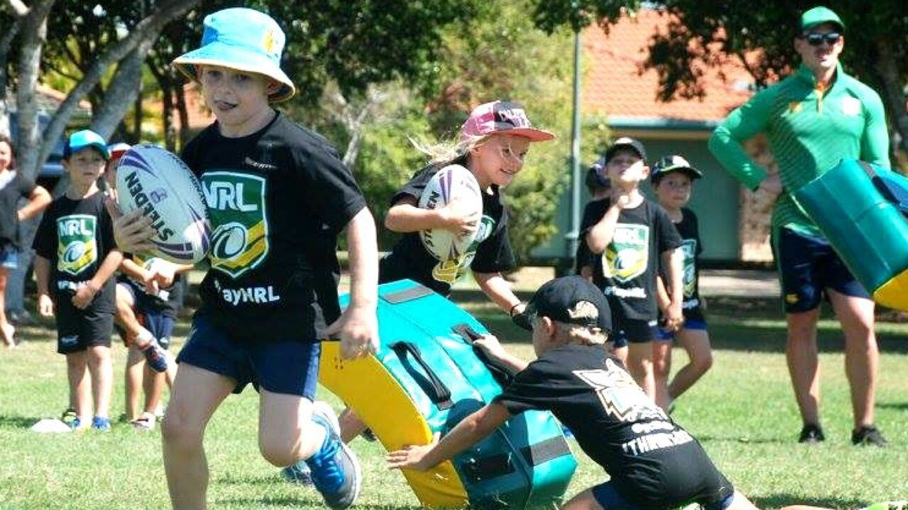 COME AND TRY: Gold Coast Titans invite youngsters aged 6 to 16 to their come and try session at Oakes Oval on February 25 at 4.30pm at Oakes Oval. Here the club hosted a recent Titans clinic on the Gold Coast.