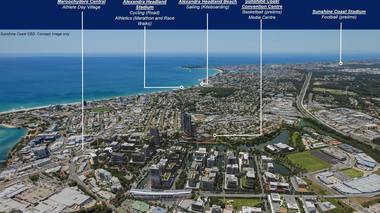 VISION: Concept plans for the Coast venues with the Maroochydore CBD.