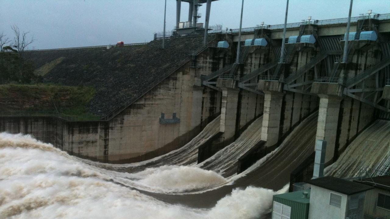 The Wivenhoe dam during the 2011 flood.