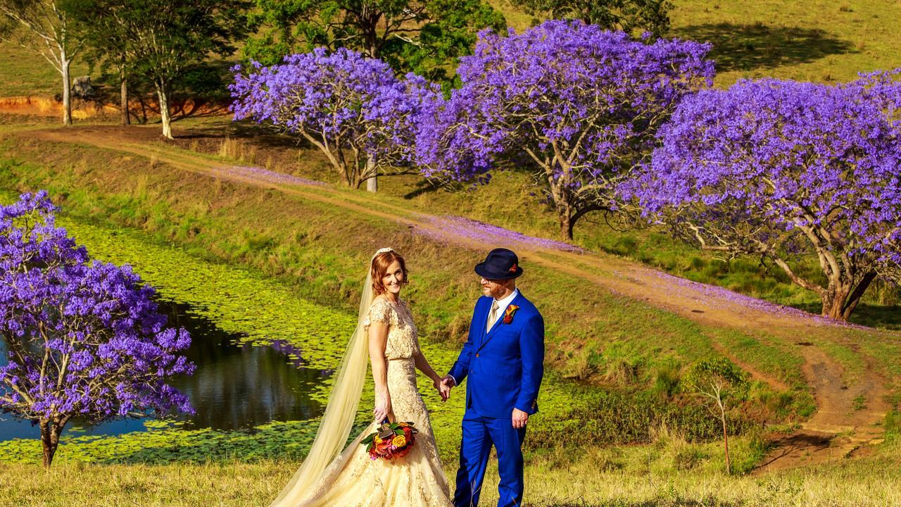 Jason Miller and Meg Caughlan's wedding at Mt Pleasant Picture: Ben Clark Photography