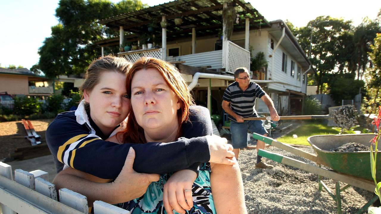Frank Beaumont says he suffered a marriage breakdown to former wife Sue (pictured here with daughter Jessalyn) following 2011's floods.