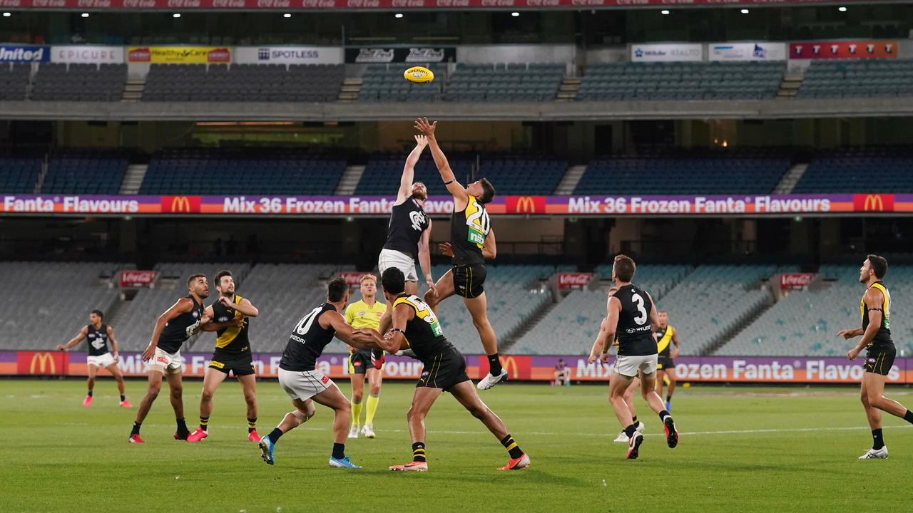 The AFL season opened last year at an empty MCG (AAP Image/Michael Dodge)