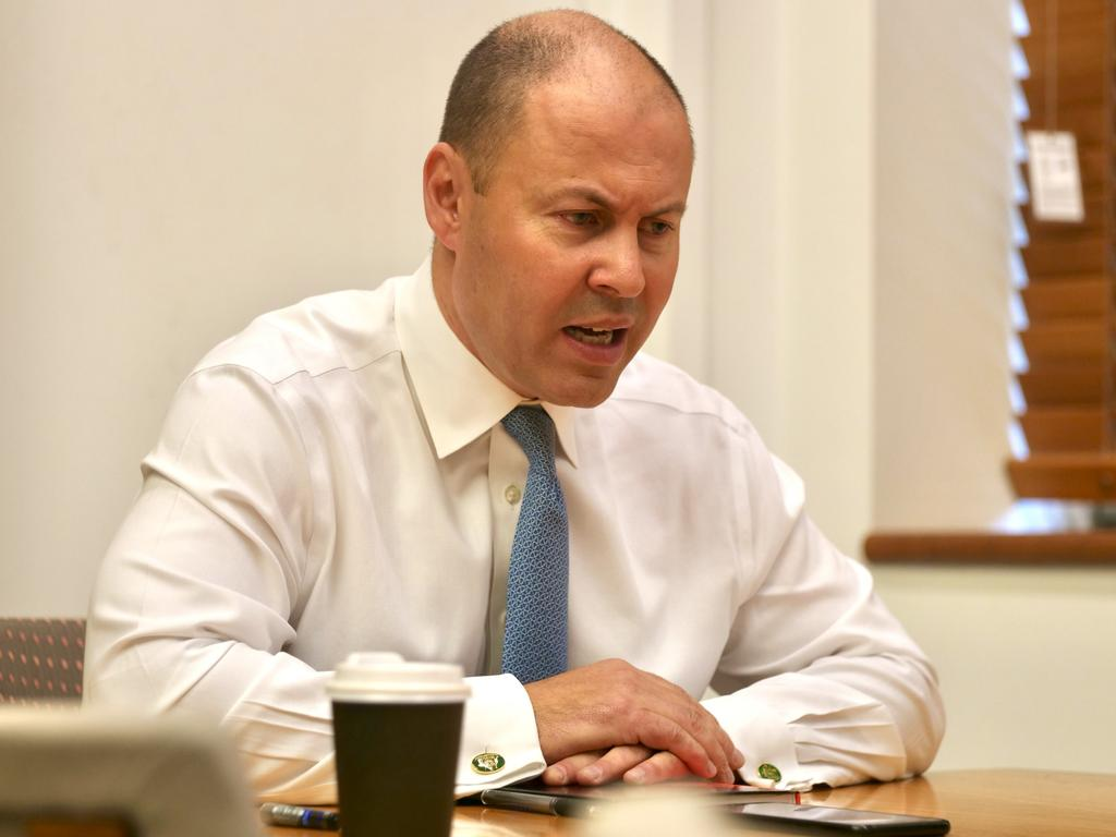 Treasurer Josh Frydenberg speaks with Facebook co-founder Mr Zuckerberg about amendments to the news media bargaining code. Picture: PMO via NCA NewsWire