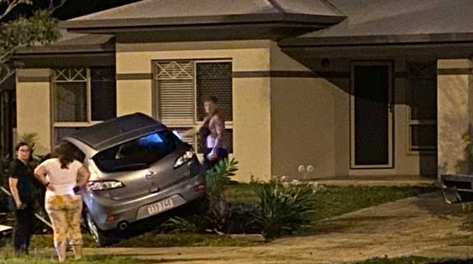 Out-of-control car narrowly misses home