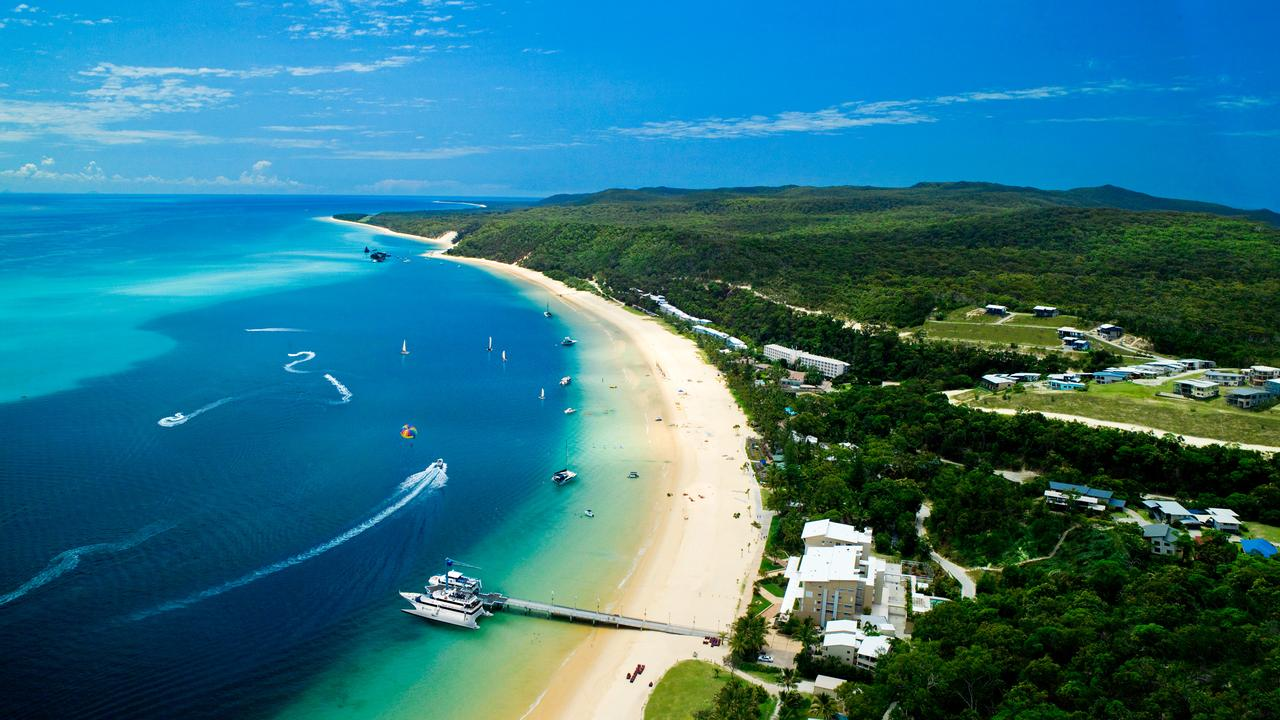 Just an hour on a ferry from Brisbane is a laidback island resort lapped by pristine waters.