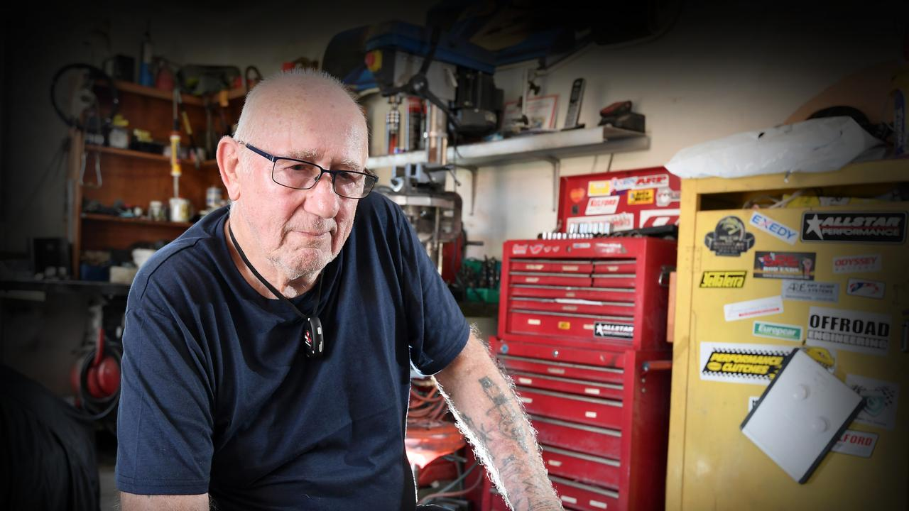 Minyama resident John Steiner was devastated when he realised his hand built 1963 silver Lotus 23B was missing from his garage. Picture: Patrick Woods.