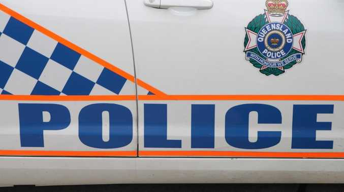Police impound car after Warrego Hwy smash